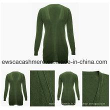Fashion Design Femmes Long Cardigan Cachemire Pull