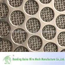 Malla de metal perforada galvanizada de 1 mm