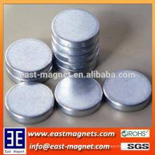Diametrische Starke Scheibe Sinter Neodym Magnete / Zinkbeschichtung Neodym Magnet zum Verkauf