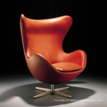 Chaise de loisirs en forme d'oeuf pour bureau ou salle de séjour