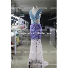 Elegant Mermaid Appliqued Cap Sleeveless Evening Dresses