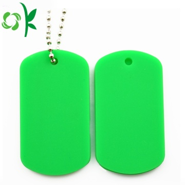 Aangepaste Logo QR Code Dog Silicone Pet Tags