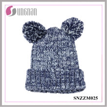 2015 Fashion Lovely Bear Ears Thick Acrylic Knitted Hats (SNZZM025)