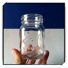 125ml Glass Mason Jar Mug with Embossed Logo