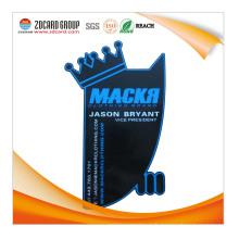 Plastique spécial coupé avec impression PVC carte personnalisée