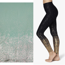 gradient shiny dot printed polyester activewear pants fabric moisture wicking