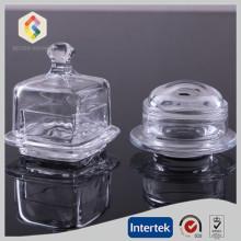 Plato de vidrio transparente de mantequilla