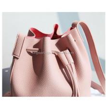 2017 Girls Cute Korean Bags Bucket Leather Shoulder Sling Drawstring Handbags