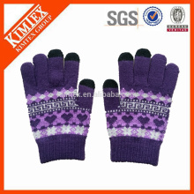 Factory acrylic knit gloves/jacquard gloves/winter gloves