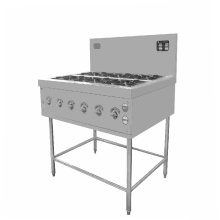 8 burner gas stove with electric oven