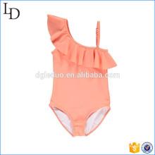 Off Schulter Design Bikini Bademode Großhandel für Kinder Girs tragen