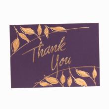 Farbenreiches kundenspezifisches Papier danken Ihnen, mit dem Heißprägen zu kardieren