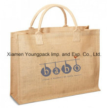 Custom Large Eco-Friendly Reusable Jute Burlap Shopping Tote Bag