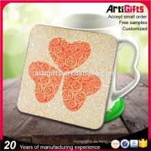 Artigifts Wholesale Feer Samples Coaster en blanco de encargo de la taza de té del corcho con el logotipo