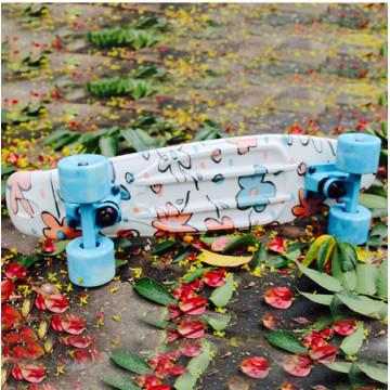 Tablero plástico del patín con la pintura (YVP-2206-5)