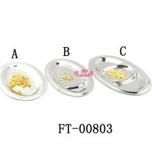 Stainless Steel Restaurant Dinner Plate (FT-00803)