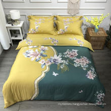 Home Decoration High Quality Bed Linen Cotton Printed Comfortable for Double Bed Sheet Set