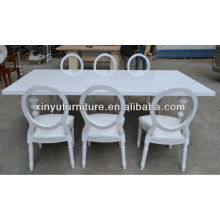 plywood banquet tables and chairs in white laquer XY0224#