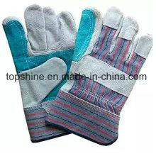 Хорошее качество Промышленная безопасность Cowhide Split Leather Work Gloves