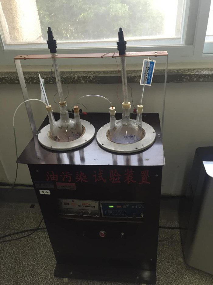 Oil pollution experiment device