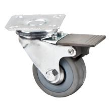 Caster Shaft Rubber Tire Caster Light Duty Furniture Caster