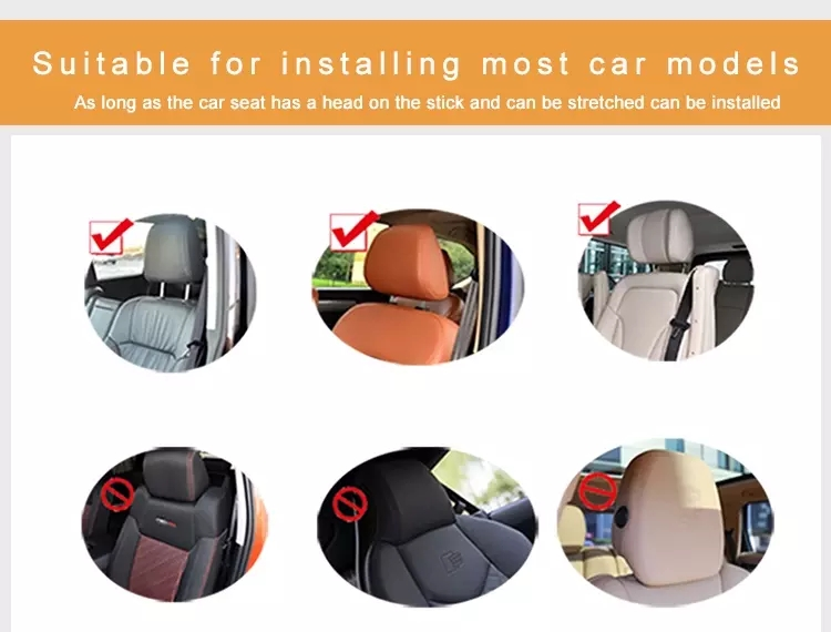 Qpak Seat Headrest Travel Rest neck Pillow