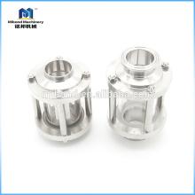 Sanitäres gerades / Inline-Schauglas aus Edelstahl 304 / 316L mit Glasrohr