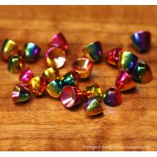Brass Rainbow Fishing Tying Cone Head Beads
