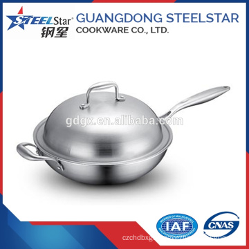 32cm China tableware multi-purpose stainless steel cooking wok
