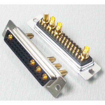 36W4 Straight Solder Standaard Power D-SUB-connector Female