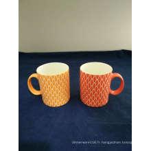 Tasse de café en porcelaine de scène graphique