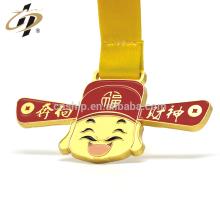 Custom zinc alloy matte gold 3D enamel metal souvenir sports medal