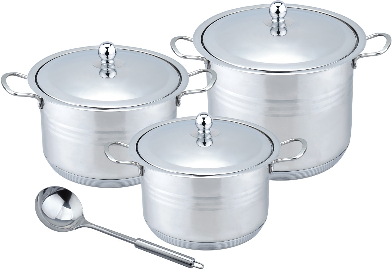 Hot sale 9pcs stainless steel stock pot