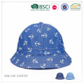 Custom Full impressão Cotton Denim Bucket Hat