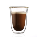 Custom Borosilicate Glass Tea Cup Coffee Double Glass Cup Double Wall Cup Glass