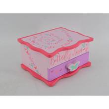 Caja de madera linda colorida para el bebé