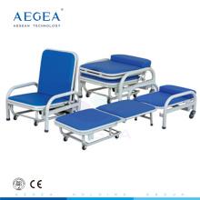AG-AC003 médical deux fonction avec mousse souple pliant accompagnateur accompagner chaise