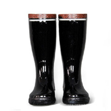 100% Rubber Safety Rain Boots with Steel Plate