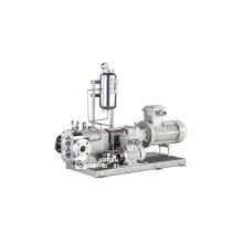 Lobe pump to transfer non-dairy creamer