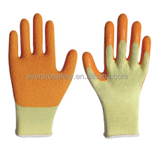 10 gauge natural rubber latex coated work gloves mechanical work gloves