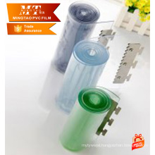 HOT ! flexible transparent pvc soft film for curtain with SGS treated
