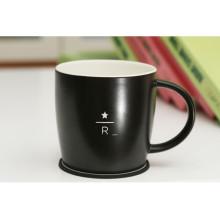 China Design rodada xícara de chá com tapete de xícara em porcelana para promocional