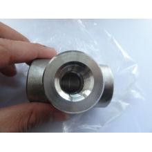 ASME B16.11 zócalo de acero inoxidable, accesorios de soldadura / accesorios forjados / accesorios de alta presión / Tee