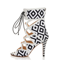 New Style High Heel Women Shoes with Geometric (HS07-35)