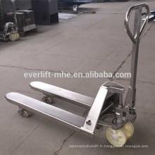 2ton 2.5ton 3ton en acier inoxydable transpalette à main de qualité supérieure et compétitve prix