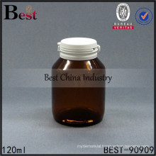 120ml empty amber glass bottles unique high end round shape capsules bottle, 1-2 free samples