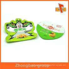 Heat seal free sample plastic heart shape bean bag for dry fruit packaging