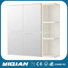 Белая матовая картина Двойная дверь Открытая полка Зеркало для ванной комнаты