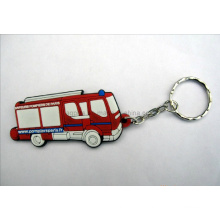 Custom Made Rubber Key Chain with Bus Logo (KC-06)