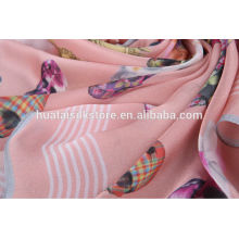 100% Digital printed silk fabric for scarf or garment